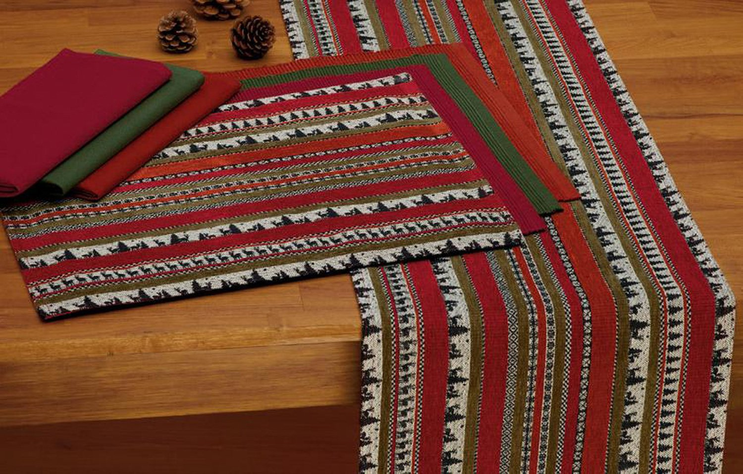 Design Imports A Walk in the Woods Table Linens, 20-Inch by 20-Inch Napkin, Picante by Design Imports (Image #2)