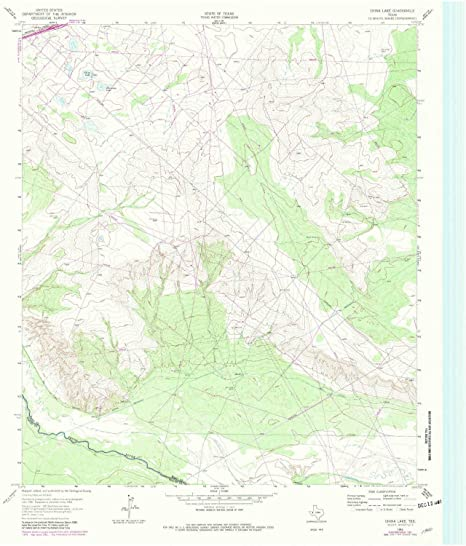 Amazon Com Yellowmaps China Lake Tx Topo Map 1 24000 Scale 7 5 X
