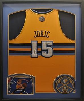 f765c9fa975d Nikola Jokic Jersey - Deluxe Framed - Autographed NBA Jerseys  Amazon.ca   Sports   Outdoors