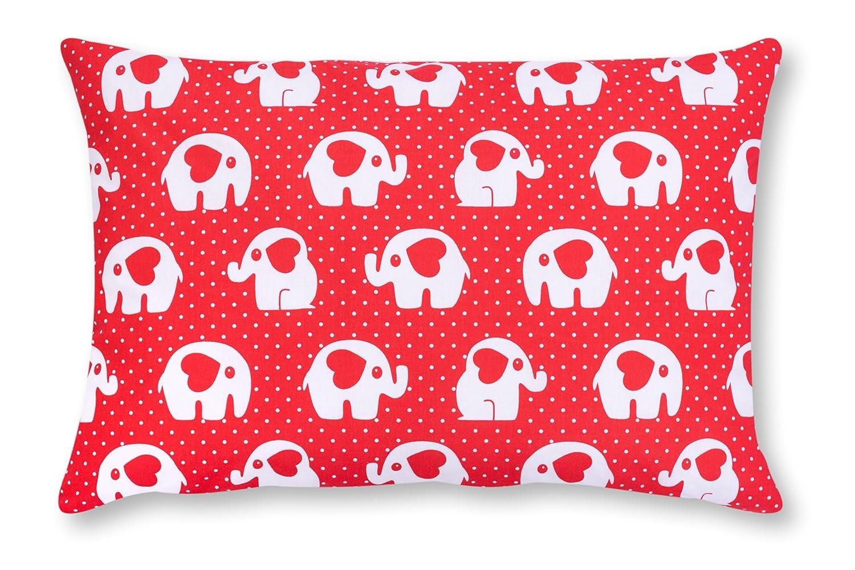 Amilian® Dekokissen Kissenbezug Kissen 40cm x 60cm Elefant KLEIN Rot