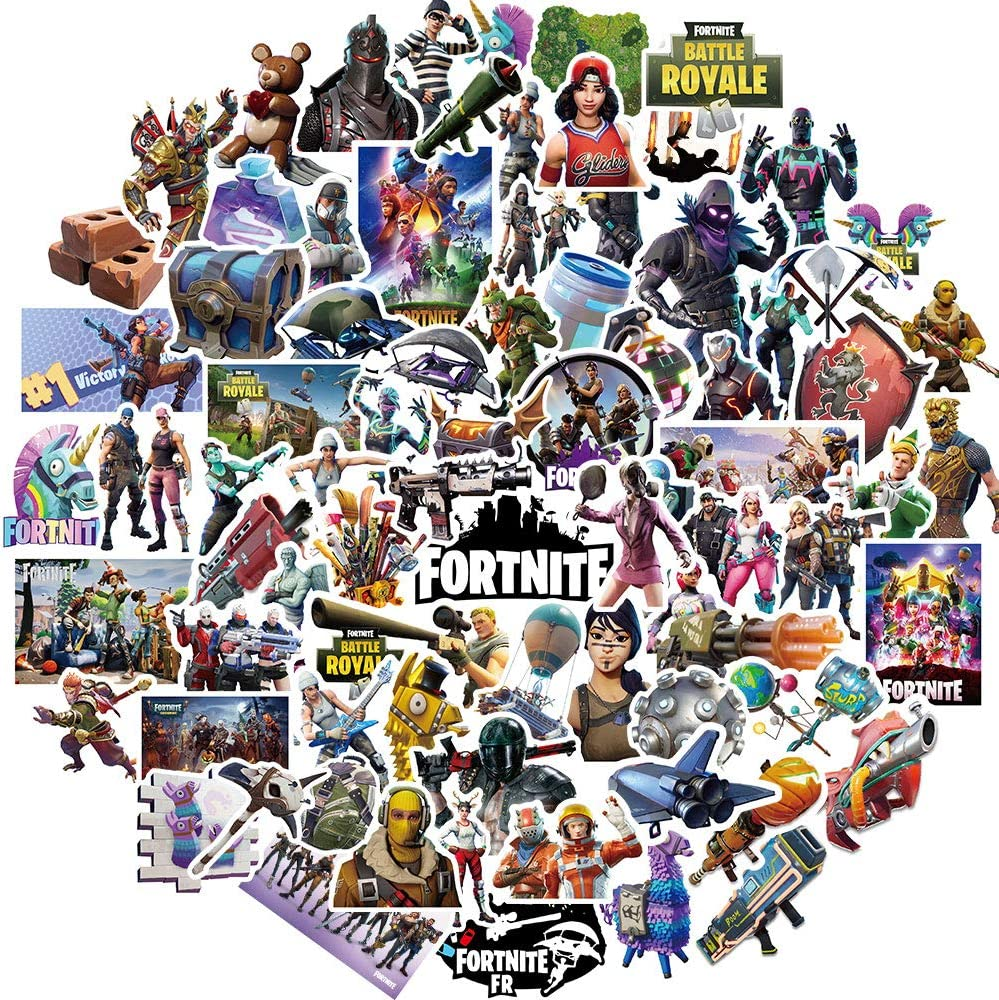Gaming Stickers Pack(100pcs),Popular Skins Sticker Set for Kids,Gamer Adults Teens Boys and Girls,Waterproof Stickers for Water Bottles,Skateboard,Bike,Luggage,PS4,Xbos