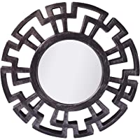 Pindia Plastic Designer Framed Wall Mounted Decorative Round Mirror