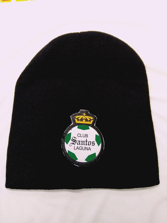 新しい。Club Santos Laguna SoccerブラックCufflessビーニー B078RS91PS