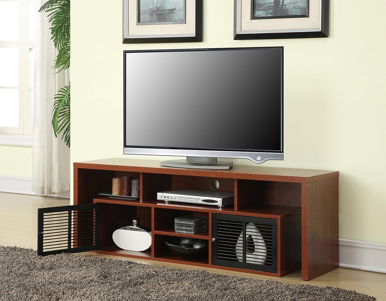 Amazon Com Convenience Concepts Lexington 60 Tv Stand Cherry Furniture Decor
