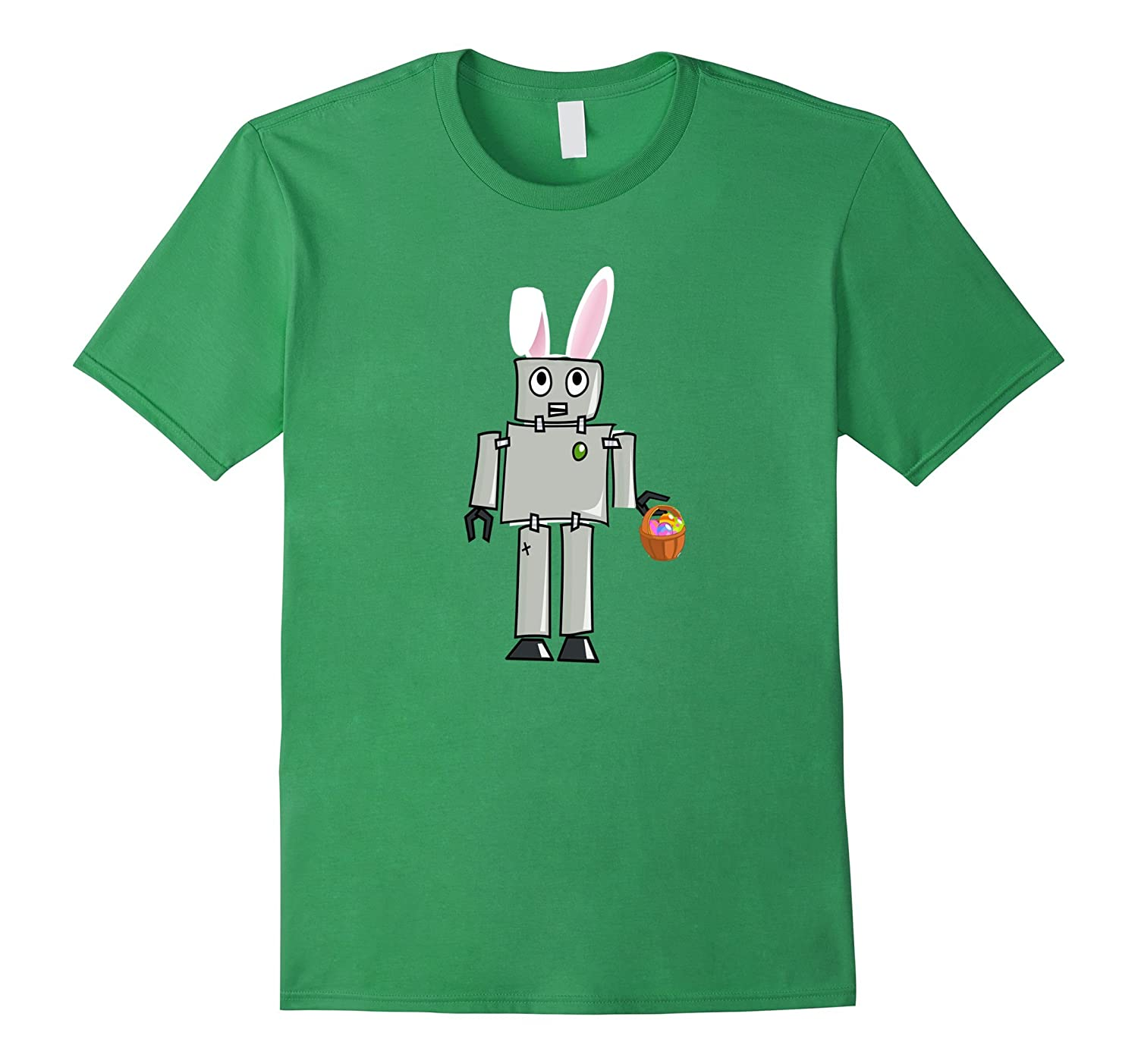Funny Robot Easter Bunny Tshirts For Men Women And Kids-CD