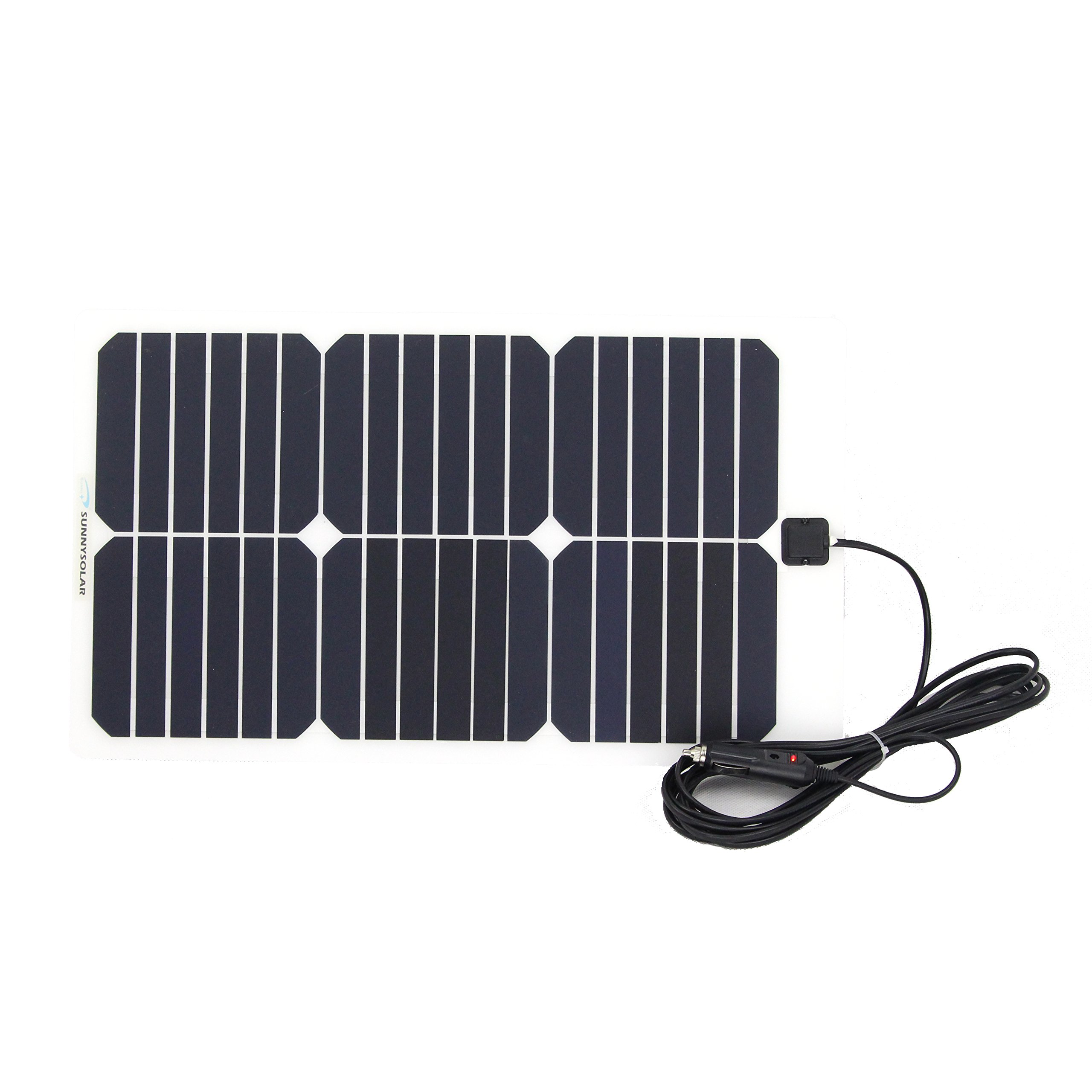 NW 1776 Flexible Solar Battery Maintainer 18V 12V 20W Solar Car Boat Power Panel Battery Charger Maintainer for Automobile Motorcycle Tractor Boat Batteries by NW 1776 (Image #2)