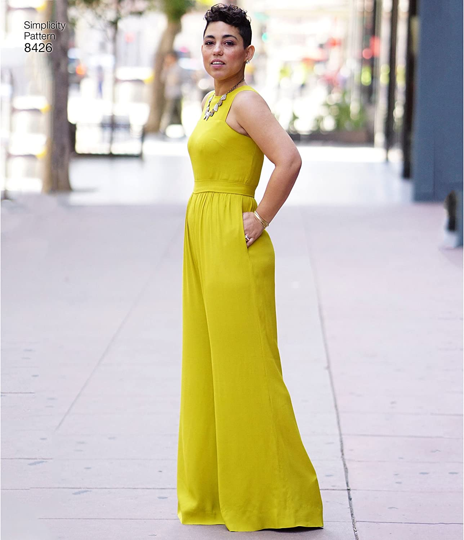 Size 10-12-14-16-18 Simplicity Pattern 8426 AA Misses /& Plus Size Jumpsuit by Mimi G
