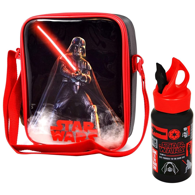 Disney® Star Wars StarWars Kids Children Lunch Bag and Metal Water Bottle Set - Official Merchandise