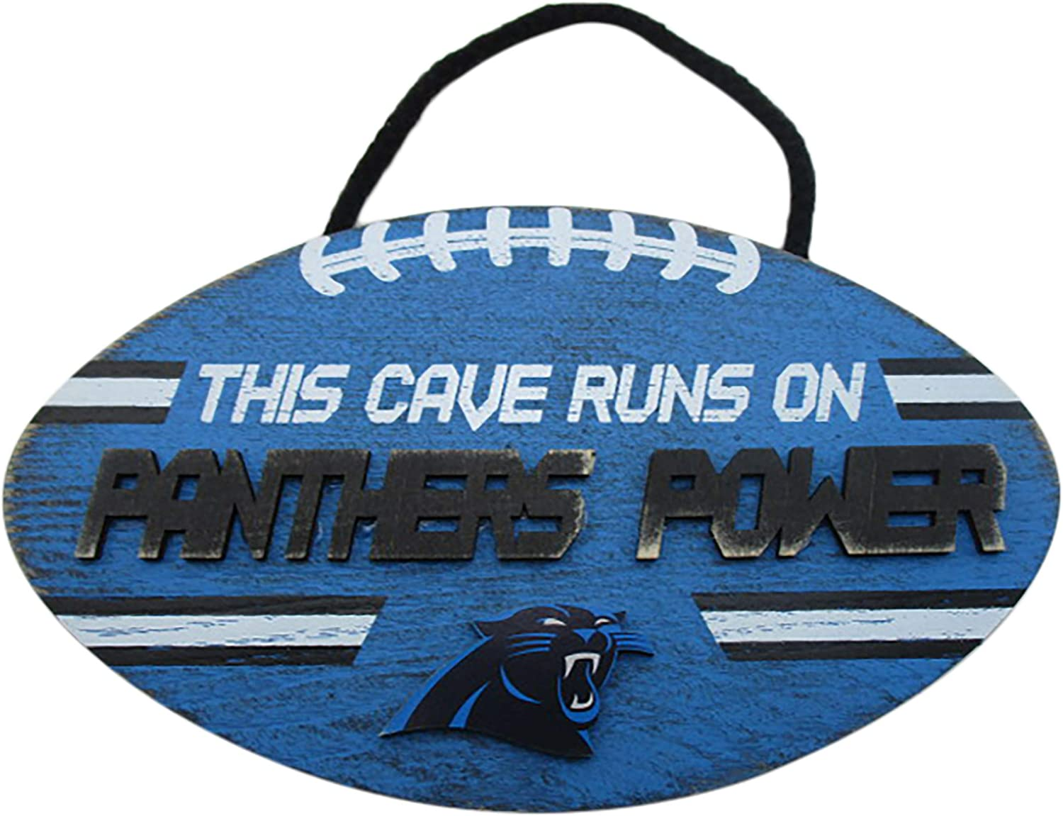 FOCO NFL Carolina Panthers Football PowerWood, Team Colors, One Size