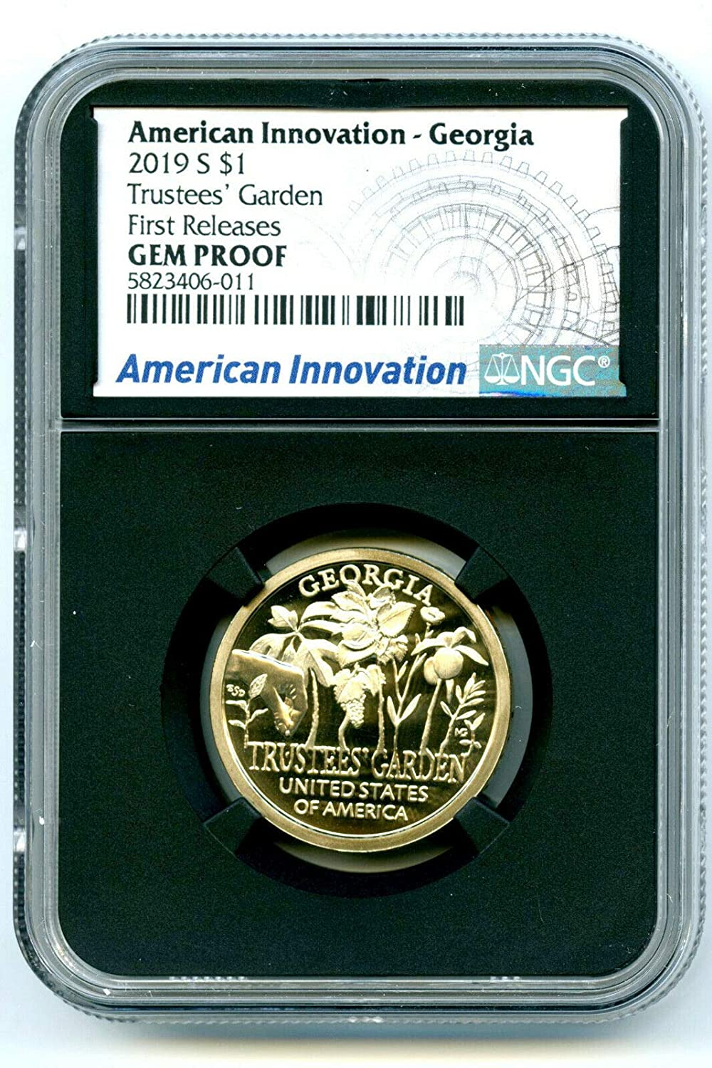 2019 S American Innovation REVERSE PROOF COIN DELAWARE IN HAND