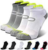 Compression Running Socks for Men & Women - Low Cut Athletic Ankle Socks