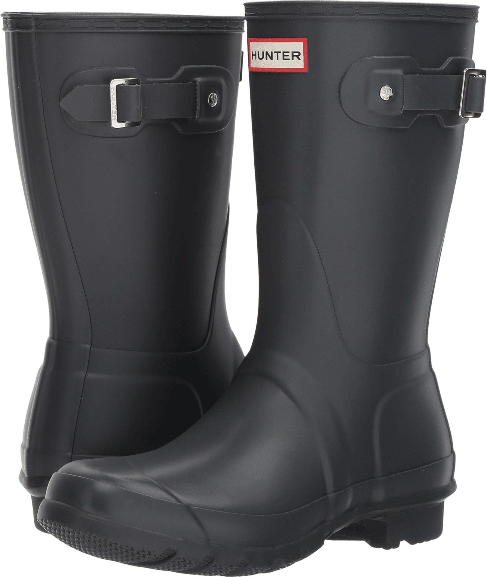 Hunter Womens Original Short Dark Slate Rain Boot - 10 B(M) US