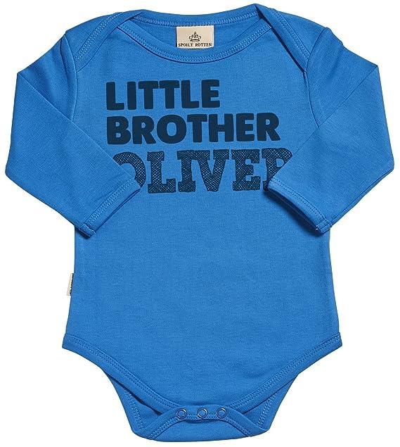 Regalos Bebe Personalizados Amazon.Spoilt Rotten Personalizados Bebe Little Brother Custom Body