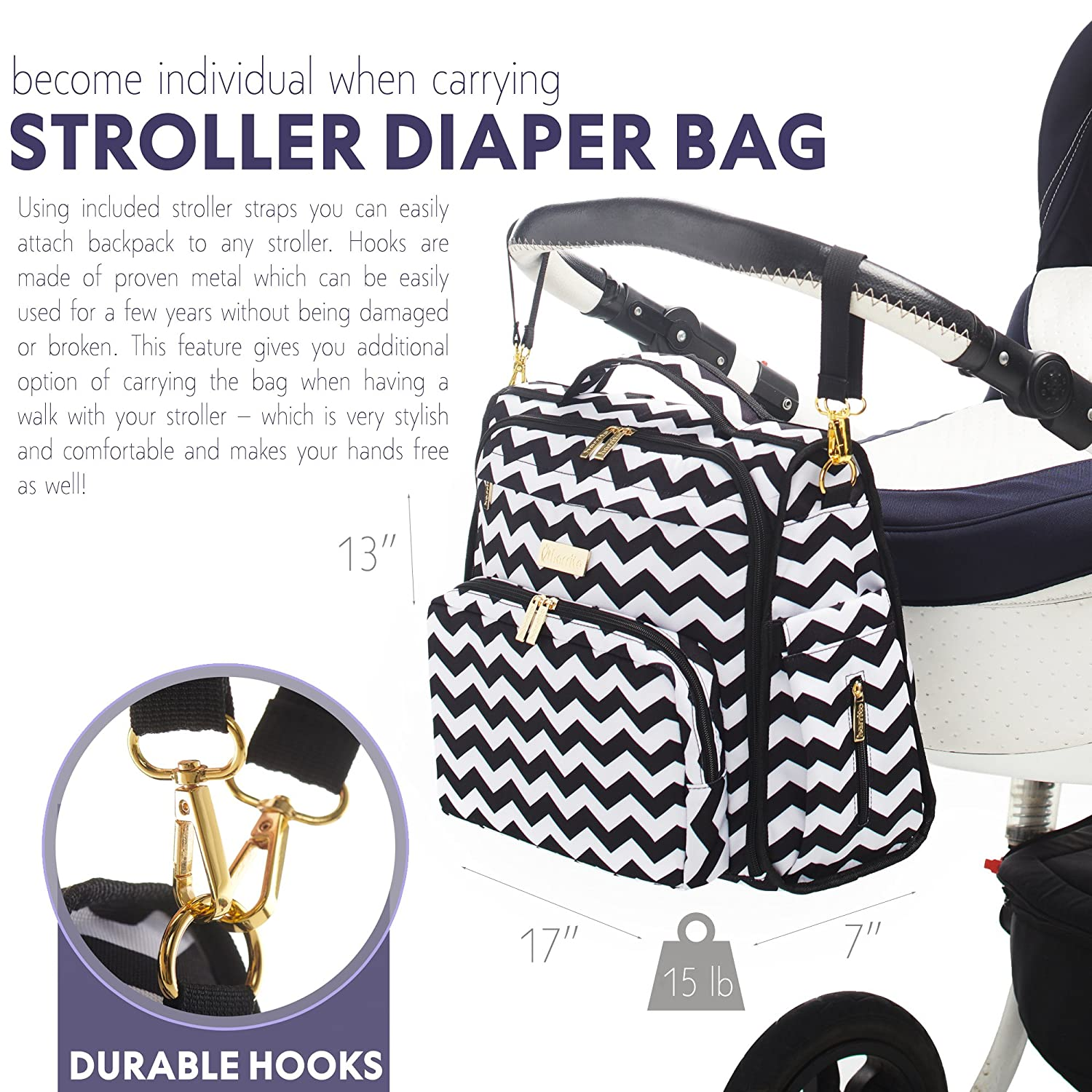 f1f86dae34b Amazon.com   Diaper Bag Backpack - Nappy Baby Changing Diaper Bag Organizer  - Waterproof Baby Backpack for Women - Baby Shower Gifts - Diaper Tote  Maternity ...