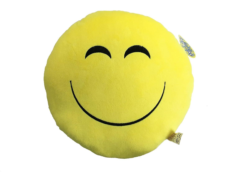 Icons - Cojin amarillo redondo Emoticono Peluche sonrisa ...