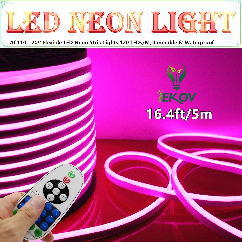 led neon light iekov ac 220v flexible neon strip lights 120 leds m ebay. Black Bedroom Furniture Sets. Home Design Ideas