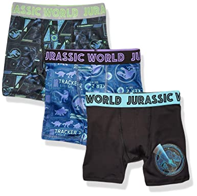 f4dd553459 Ultimate Nutrition Universal Boys' Little 3-Pack Jurassic World Athletic  Boxer Brief Underwear,