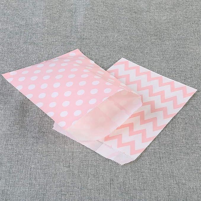 Amazon.com: NUOBESTY 24 bolsas de papel a rayas para ...