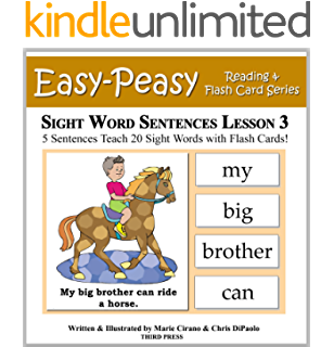 Sight Word Sentences Lesson 4: 5 Sentences Teach 20 Sight Words ...