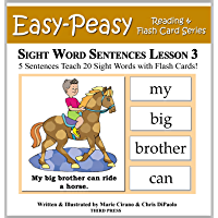 Sight Word Sentences Lesson 3: 5 Sentences Teach 20 Sight Words with Flash Cards (Learn to Read Sight Words) (English Edition)