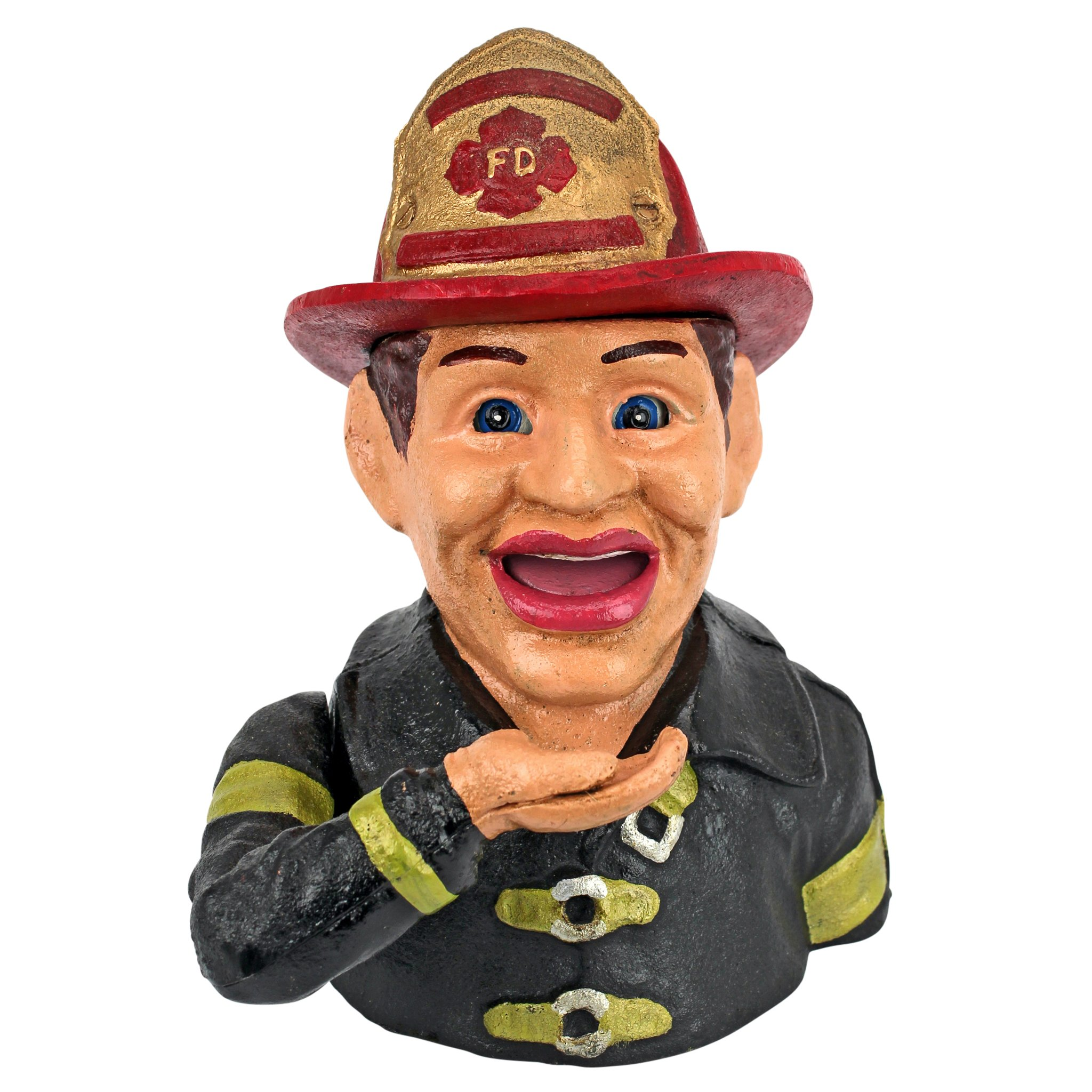 Design Toscano Fireman's Fund Die-Cast Iron Mechanical Coin Bank by Design Toscano (Image #2)