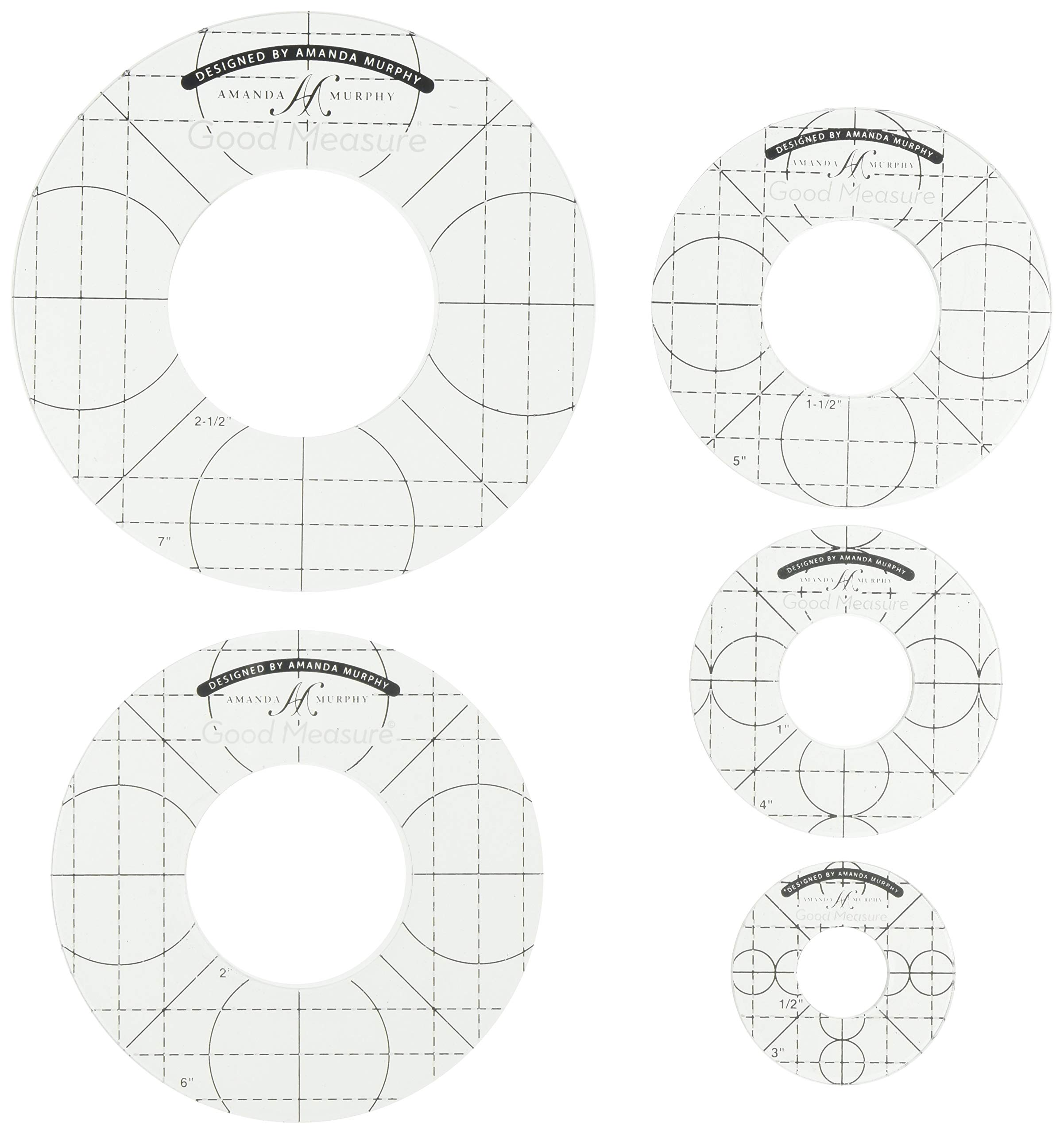 Good Measure GMAMCS Every Circle 1/4'' Set of 5 Ruler Set by Good Measure