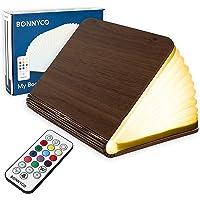 Lampe Livre Led Pliante en Bois avec Télécommande 12 Couleurs et Minuterie | Livre Lumineux pour Decoration Chambre…