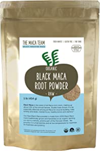 The Maca Team Raw Black Maca Powder, Raw and Vegan Maca Powder Fresh from Peru,1 Pound, 50 Servings