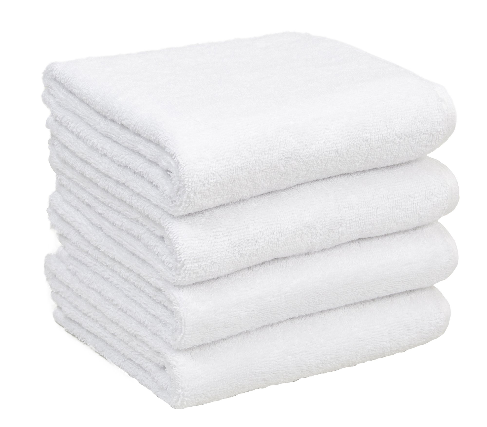 Home and Plan Quick Dry Premium 100% Turkish Cotton Hand Towels | 4-Piece Set, Decorative Hand Towels (16x27) - White (S7)