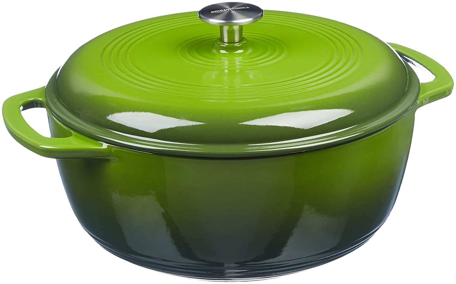 AmazonBasics Enameled Cast Iron Dutch Oven - 6-Quart, Green