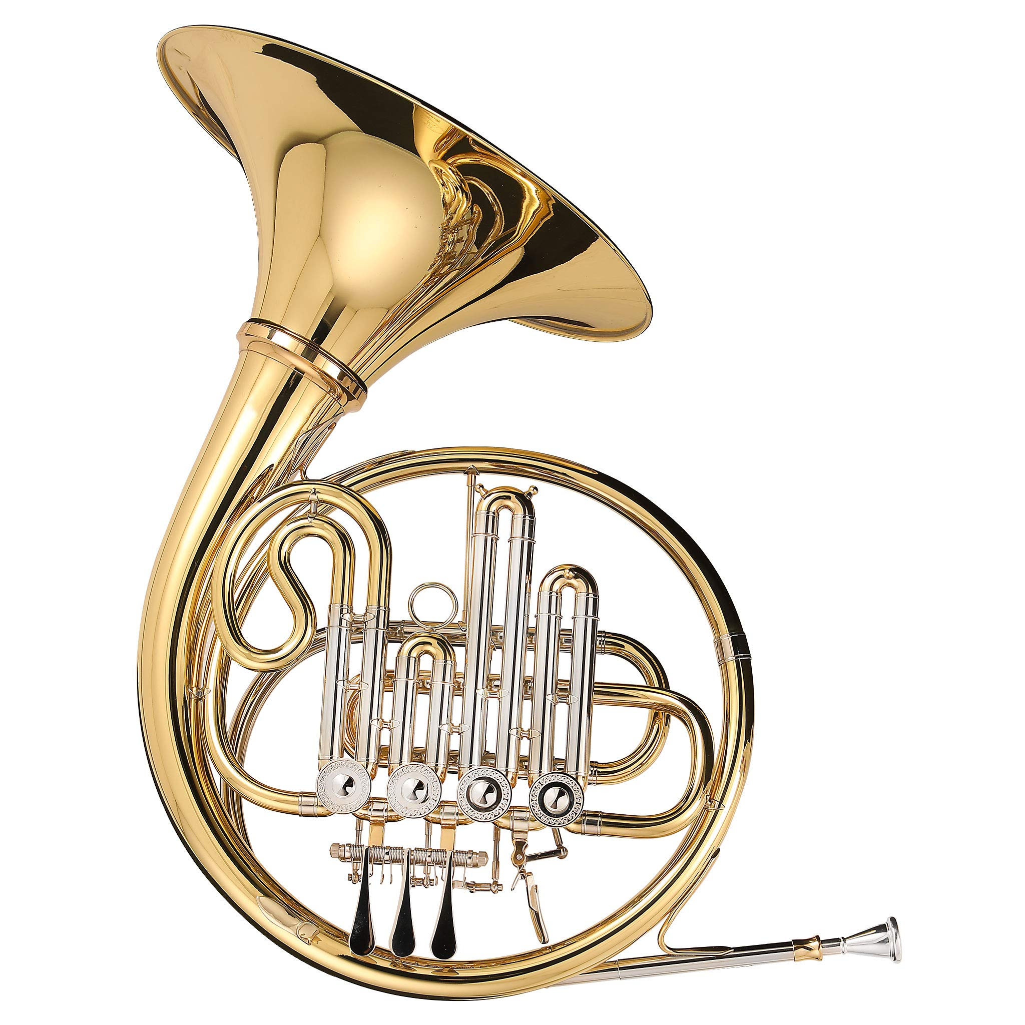 Kaizer French Horn Bb A 3000 C-Series Gold Lacquer with Case & Accessories FRH-3500LQRC-BA by Kaizer