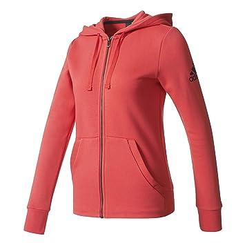 ADIDAS Damen Jacke Essentials Solid Kapuzenpullover  Amazon.de ... 75f41534fd