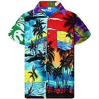 Funky Hawaiian Shirt for Men Short-Sleeve Front-Pocket Hawaiian-Print Every Shirt...