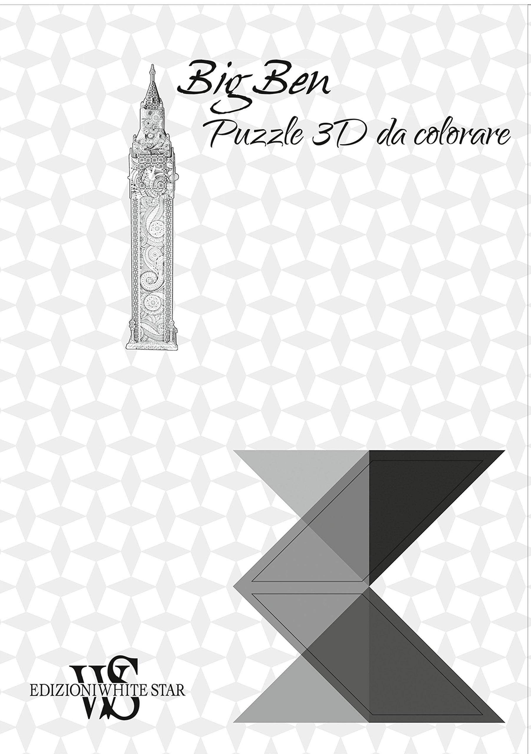 Big Ben Puzzle 3d Da Colorare Amazoncomau Books