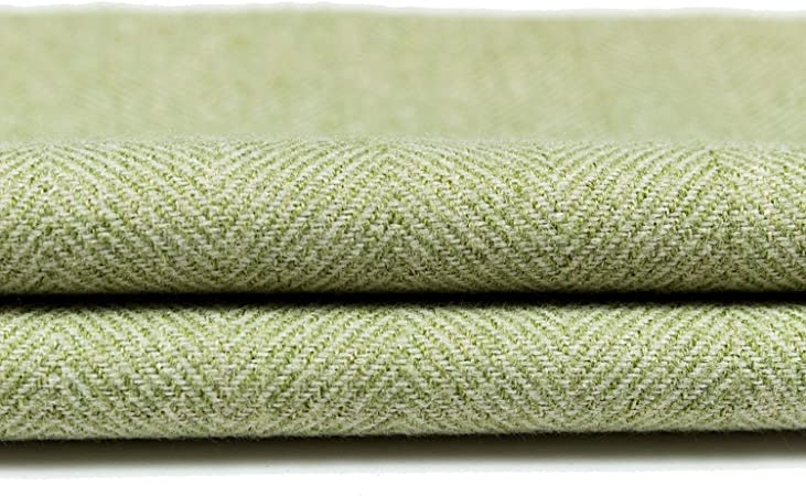McAlister Textiles Herringbone | Sage Green Wool Feel Upholstery Furnishing Material Fabric by Metre 140cm Wide
