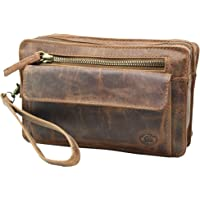 Frédéric Johns bolso de cuero para hombre - bolso de cuero vacío para hombres - Bolso Mano Piel Hombres - Cartera Mano…