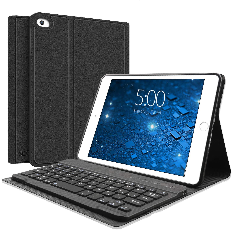 Funda Con Teclado Para iPad Mini 5/4/3/2/1 (negro)
