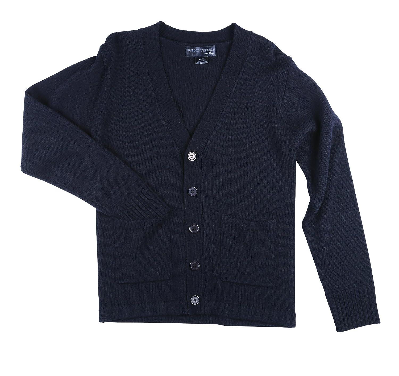 Sezzit Boys School Uniform V-Neck Button-up Cardigan w/Pockets