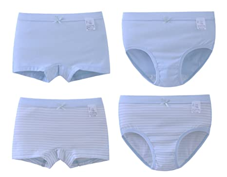 ABClothing No Muffin Toddler Underwear Girls 2T Blue Stripe