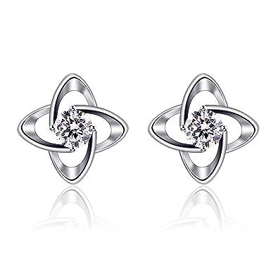 68d774402 B.Catcher Earring Women Studs, Sterling Silver 925 Cubic Zirconia Earrings  Lovely Set