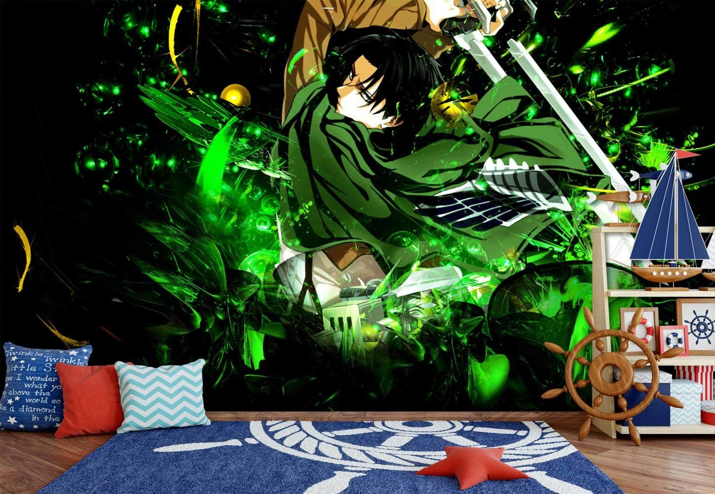 Zxjwzw Attack On Titan Cartoon Anime Wallpaper Tv Sofa Background 3d Wallpaper Mural For House Kids Living Bedroom Office Gym Shop Hallway Studio Wall Art Decor 200cmx140cm W H Amazon Co Uk Diy Tools