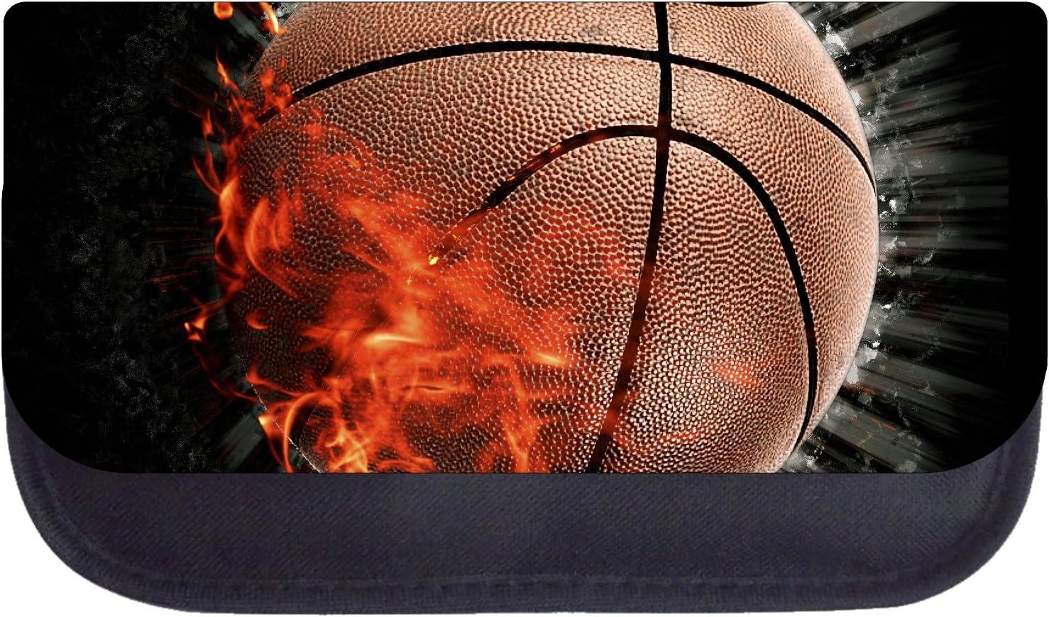 Flaming Basketball Black School Backpack /& Pencil Bag Set