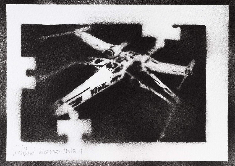 Poster Caza Estelar X-Wing STAR WARS Grafiti Hecho A Mano ...