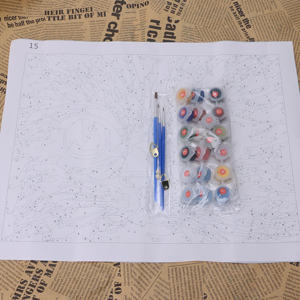 Rahmenlose Digitales /Ölgem/älde Durch Zahlen Leinwand Wandbild Kunst DIY Haus Dekoration Weihnachten Dekorationen Geschenke Neue Ncbvixsw Tiger DIY /Ölgem/älde Malen Nach Zahlen Kits