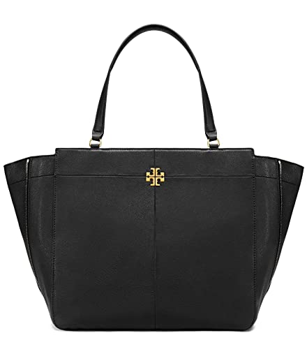 418269314a38 Amazon.com  Tory Burch Ivy Side Zip X Large Tote Black Leather Shopper Bag  - Black  Shoes