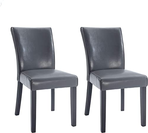 Milan Meadow Bonded Leather Parsons Chair