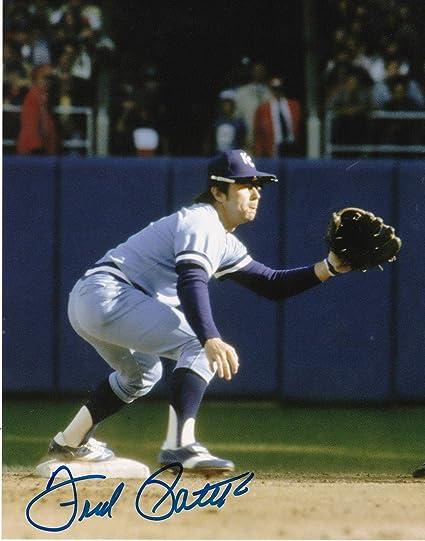 e12998dc90f FRED PATEK KANSAS CITY ROYALS ACTION SIGNED 8x10 - Autographed MLB ...
