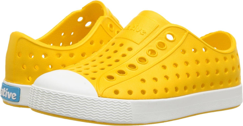 Espadrilles Mixte Enfant Native Shoes Jefferson Child Jaune 23 EU // 7 US C Crayon jellow//Shell White