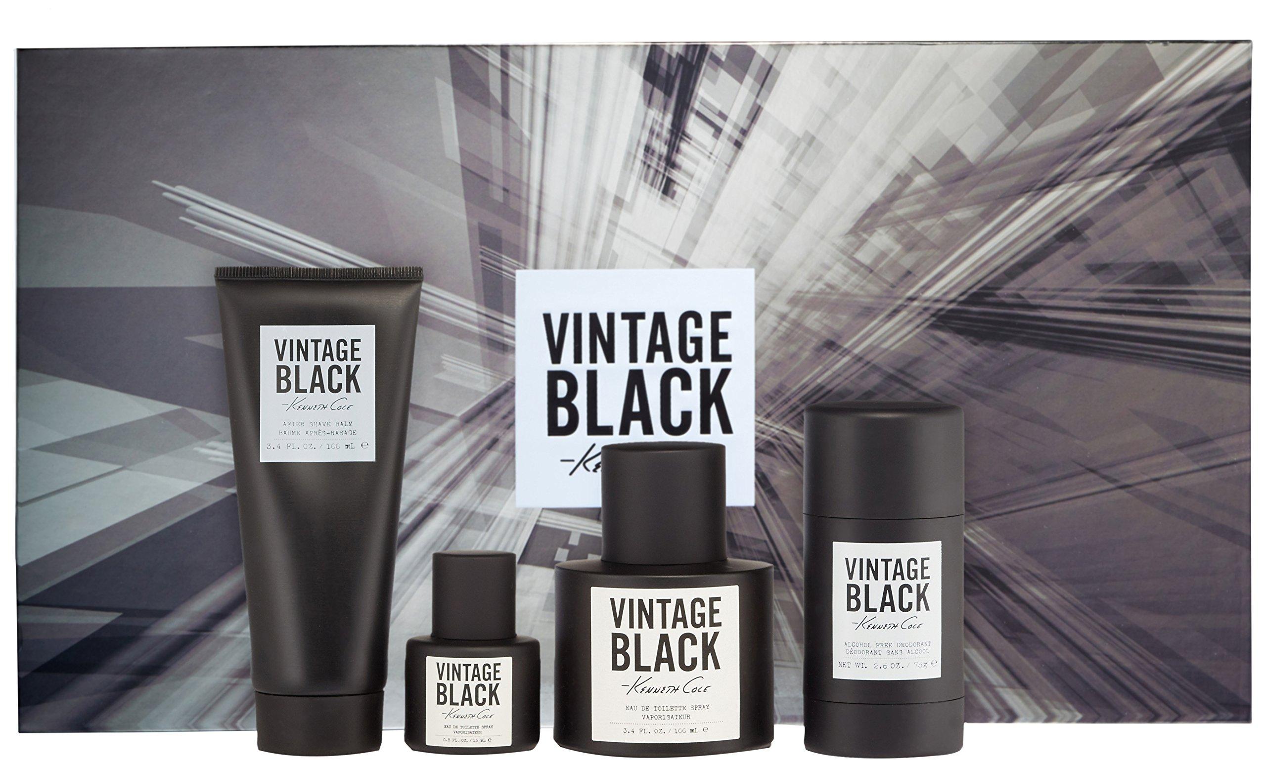 Kenneth Cole Vintage Black 4 Piece Gift Set