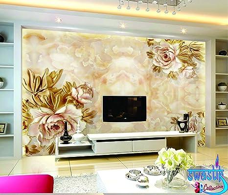 Buy Swastik Flower Design Beautiful 3d Wallpaper Non Woven